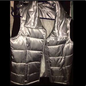 NWOT Silver Charter Club Vest!!